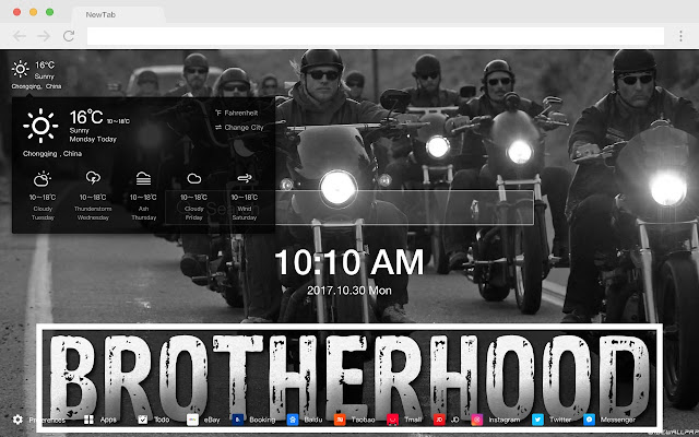 Motorcycle Club HD Cars New Tabs Theme