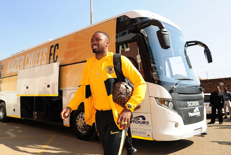 Bernard Parker of Kaizer Chiefs arrives before the Absa Premiership 2019/20 football match between Highlands Park and Kaizer Chiefs at Makhulong Stadium in Tembisa on 4 August 2019.