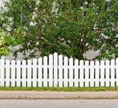 White Picketed Fencing