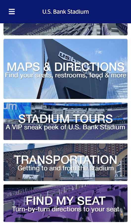 US Bank Stadium Android Apps On Google Play - Us bank stadium concessions map