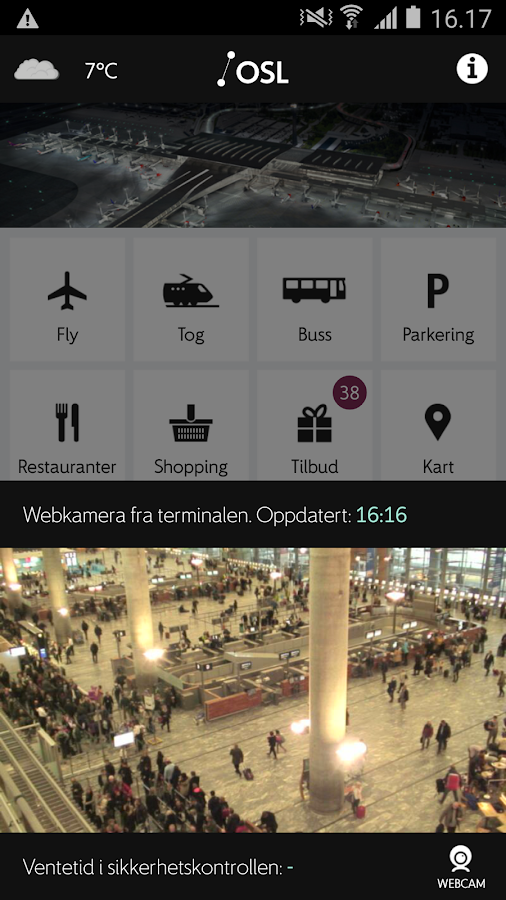 Oslo Airport- screenshot