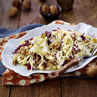 Linguine with Radicchio, Pears and Walnuts.