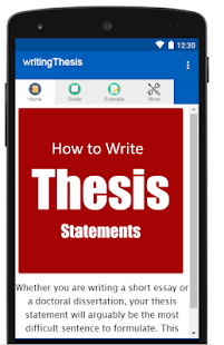 how to write a thesis statement android apps on google play  how to write a thesis statement screenshot thumbnail