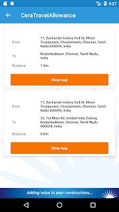 Cera Travel App - náhled