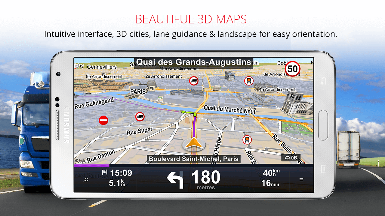 Sygic Truck GPS Navigation: captura de tela