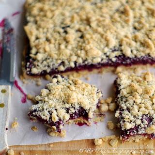 Gluten Free Fresh Blackberry Oat Bars