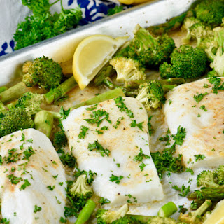 Sheet Pan Lemon Pepper Baked Cod and Vegetables Recipe