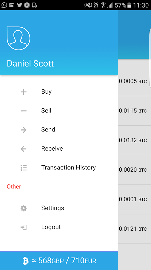 Bitcoin Wallet - CoinCorner- screenshot