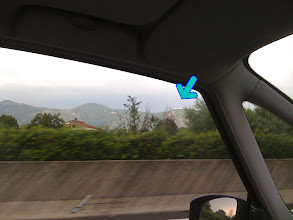Photo: Monte Cassino from the A1 at 130kmph