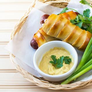 Cheesy Dijon Mustard Salted Croissant Dogs