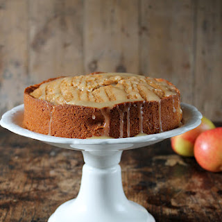 Apple Cider Cake with Salted Cider Caramel Drizzle
