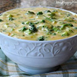 4 Ingredient Broccoli Cheese Soup.