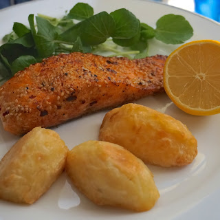 Pan Fried Salmon Filler With Sesame Seed, Olive Oil And Lemon Recipe