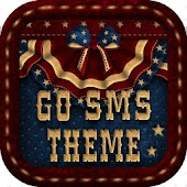 GO SMS PRO THEME 4TH OF JULY AMERICANA
