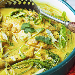 Turmeric and Coconut Poached Sea Bass