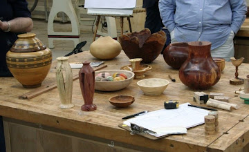 Photo: The Show & Tell table has some interesting pieces.