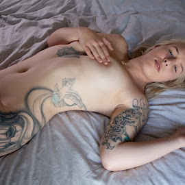 Demi by Brian Pierce - People Portraits of Women ( boudoir, demi, nude, bath,  )