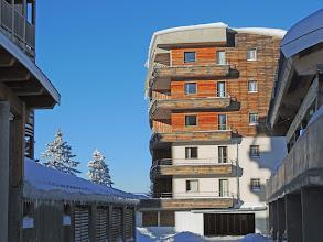 Photo: Rayons de soleil en hiver, sur la résidence