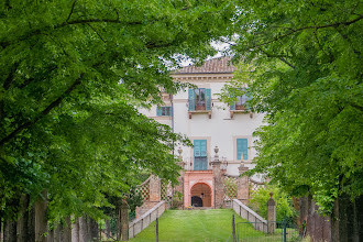 Photo: Villa Aurelli from the meadow;  that's 2 of the little balconies in our apartment