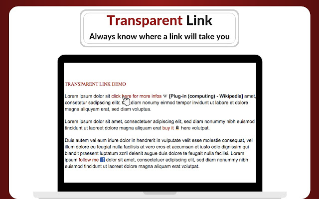 Transparent Links