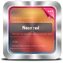 Neon red GO SMS icon