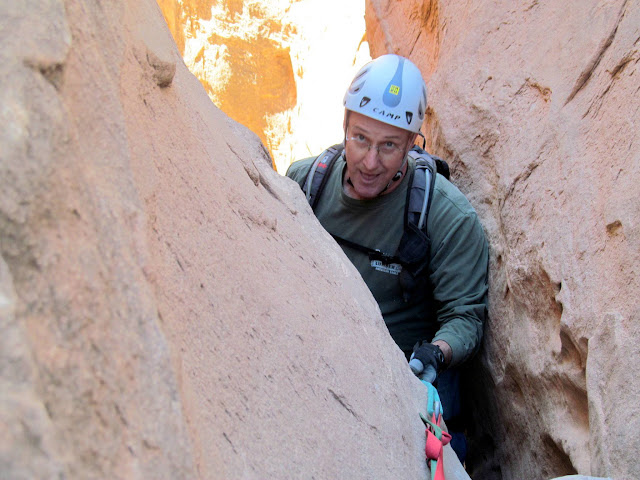 Paul (probably making a smartass remark) going down the 75' rap