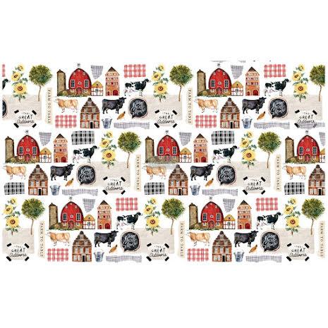 Prima Re-Design Decoupage Tissue Paper 19X30 - Farm To Table