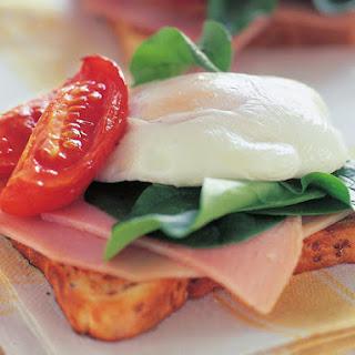 Open Faced Egg Sandwich