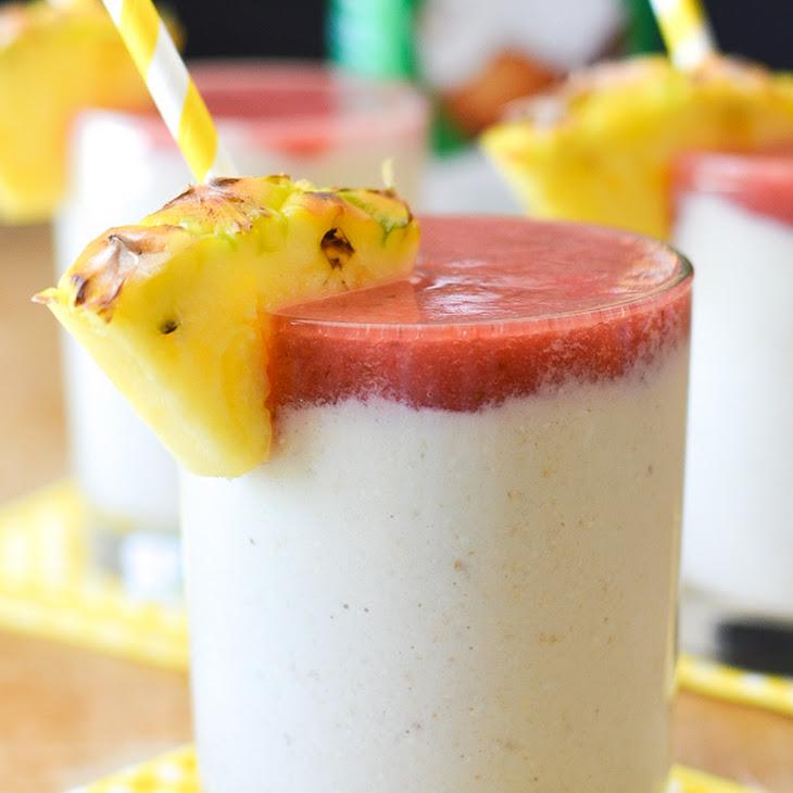 Strawberry Colada Breakfast Smoothies