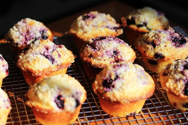 Blueberry Muffins With Lemon Sugar Topping Recipe