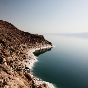 Dead Sea by Anthony Schwab - Landscapes Waterscapes ( dead sea, jordan, the lowest place on earth's surface )