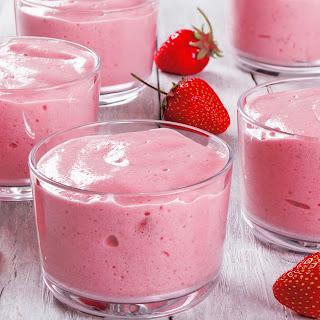 Sweet Strawberry Cheesecake Pudding.