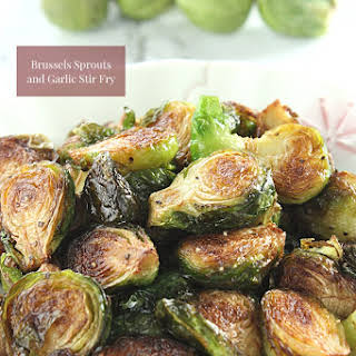 Brussels Sprouts and Garlic Stir Fry.