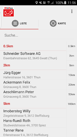 android WinBau Adressen Screenshot 0