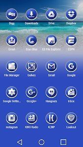 Enyo Blue - Icon Pack screenshot 2