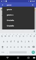 Screenshot of Italian Dictionary