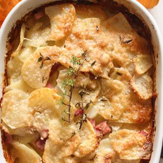 Parmesan Potato Ham Bake.