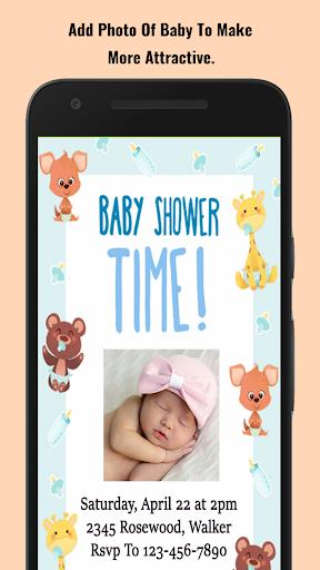 Baby Shower Invitation Maker screenshot 5