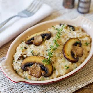 Pressure Cooker Savory Mushroom Thyme Oatmeal.