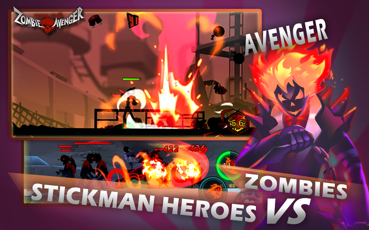Zombie Avengers-Stickman War Z- screenshot