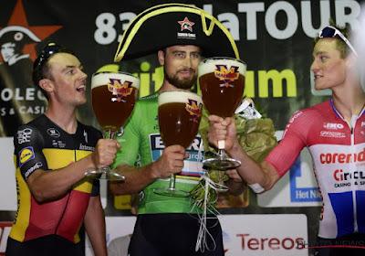 Sagan célèbre son maillot vert à Alost