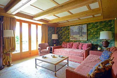 A Classic Vintage Gstaad Winter Retreat