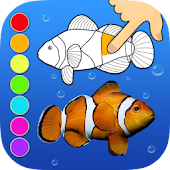 Dancing fishes 3D Coloring App