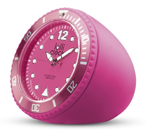 LolliClocks Rock Printed Clocks - Magenta