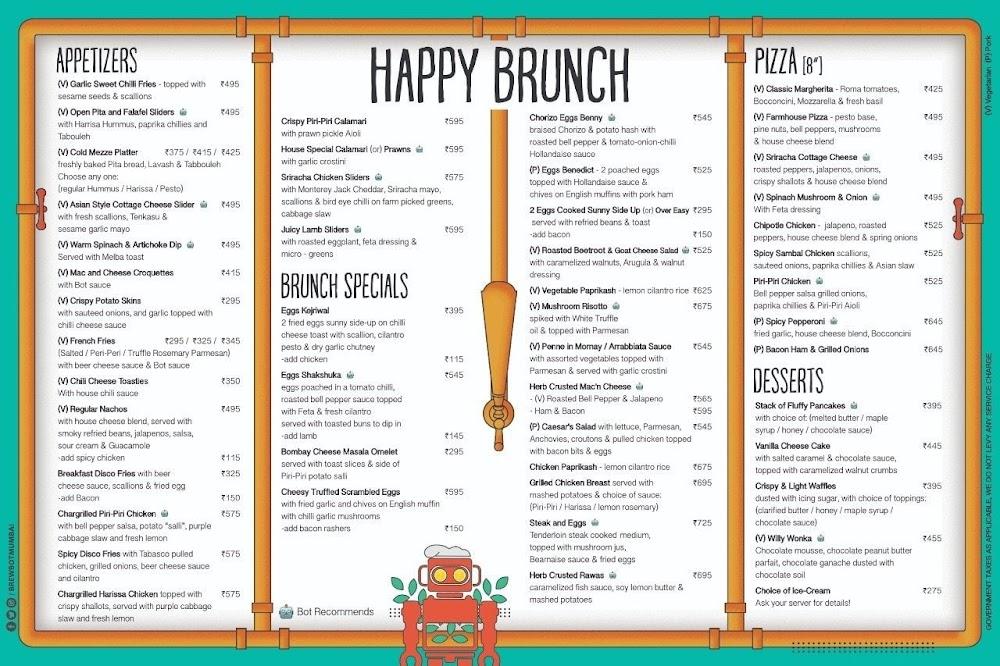 Brewbot Eatery & Pub Brewery menu 8
