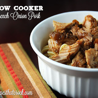Slow Cooker French Onion Pork