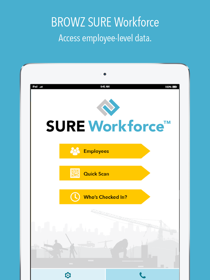 BROWZ SURE Workforce- screenshot
