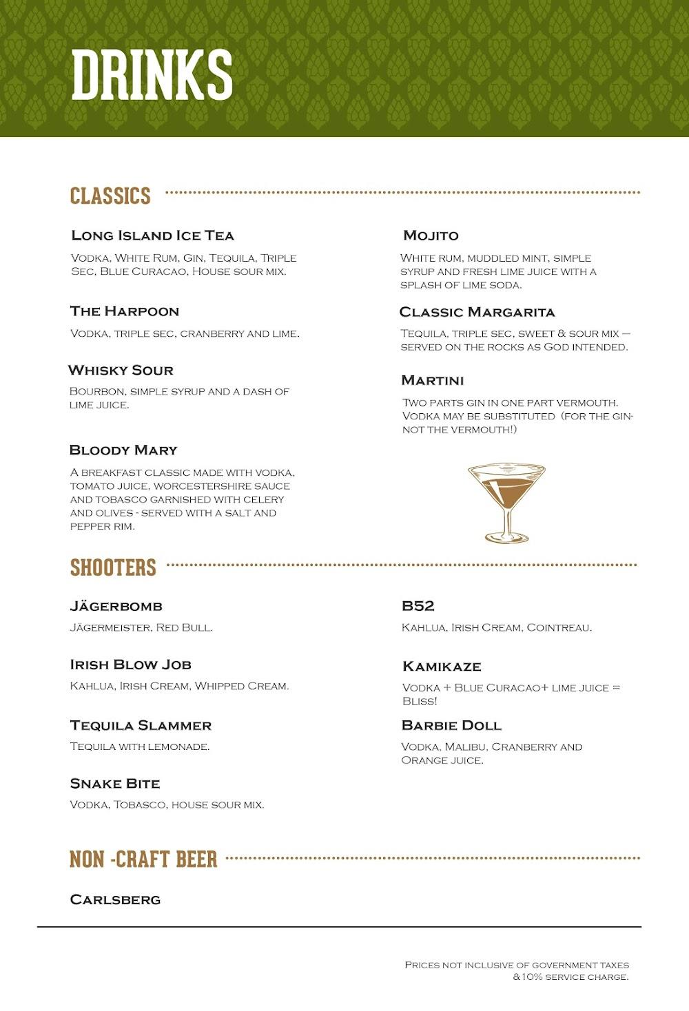 Arbor Brewing Company menu 3