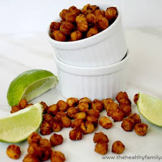 Roasted Chickpeas with Chipotle and Lime (Vegan, Gluten-Free).