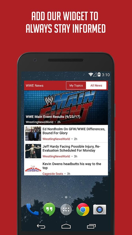 Sportfusion - WWE News Edition- screenshot